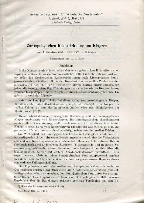 koerper joachim - ZVAB