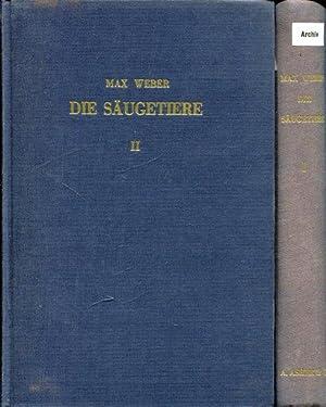 Die Säugetiere. Einführung in die Anatomie und Systematik der recenten und fossilen Mammalia. 2 Bde...