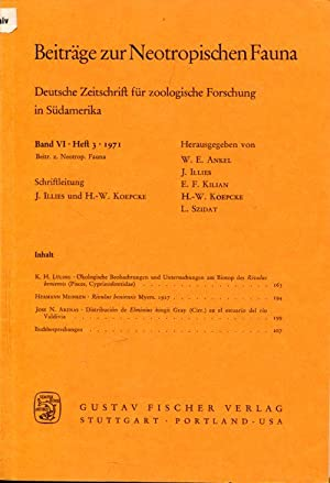 Beiträge zur neotropischen Fauna. Bd. 3-6, in 12 Heften.