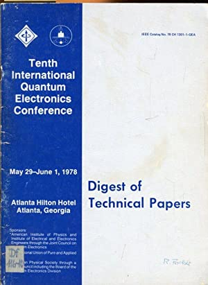 Tenth International Quantum Electronics Conference, 1978. Digest of Technical Papers.: ...