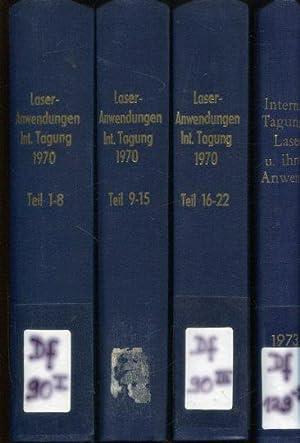 Laser und ihre Anwendungen.: Deutsche Akademie der Wissenschaften zu Berlin, Zentralinstitut für ...