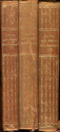 Briefwechsel zwischen Schiller und Goethe in den Jahren 1794   1805. Drei Bände.: Schiller, ...