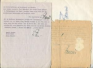 4 maschinenschr. Briefe mit Unterschrift, 1 maschinenschr. Umfrage-Antwort mit Unterschrift.: ...