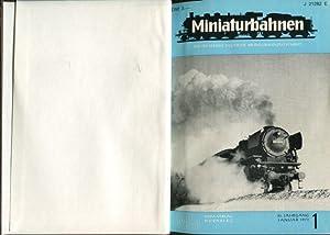 Miniaturbahnen. Die führende deutsche Modellbahnzeitschrift. 25. Jg. 1973 mit den Heften 1 - 12 und...