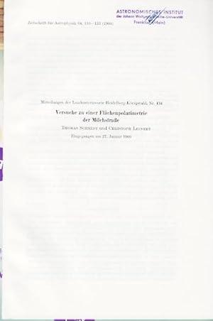 Versuche zu einer Flächenpolarimetrie der Milchstraße.: Schmidt, Thomas /
