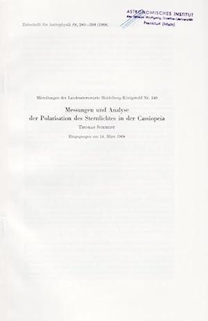 Messungen und Analyse der Polarisation des Sternlichtes: Schmidt, Thomas /