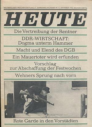 Heute. Westberliner Wochenzeitung. 1. Jg. Nummer 1 -3.1966.