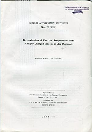 Determionation of Electron Temperature from Multiple Charged: Kimura, Motoharu /