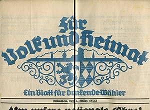 Für Volk und Heimat. Ein Blatt für Denkende Wähler. 4. März 1933.