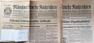 Münchner Neueste Nachrichten. 29 Nummern vom 1. September 1938 bix 12. Oktober 1938.