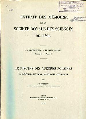 LE SPECTRE DES AURORES POLAIRES. I. Identifications: Arpigny, C. :