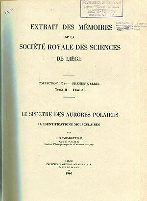 LE SPECTRE DES AURORES POLAIRES II. IDENTIFICATIONS: Remy-Battiau, L. :