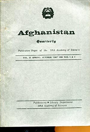 Afghanistan; historical and cultural quarterly. Anfangs: revue trimestrielle. Jg. 1984, (Volume 37)...