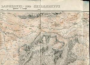 Karte der Langkofel- und Sellagruppe. Maßstab 1:25000.: Alpenverein Deutschland / Österreich ...