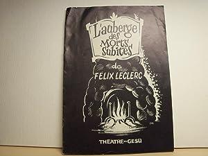 L'auberge des morts subites / Théâtre du: Leclerc, Félix