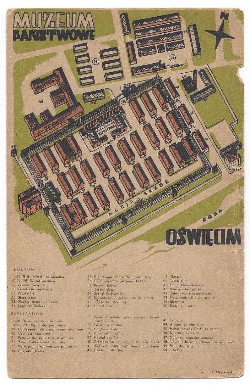 [Postcard] Early Postcard of the Auschwitz-Birkenau State Museum Myszkowski, Tadeusz