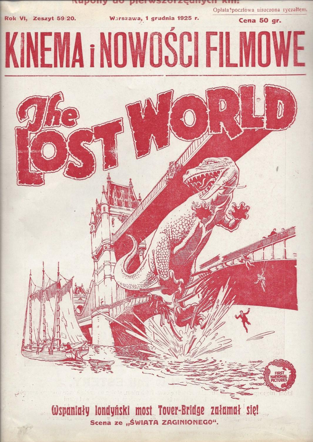 The Lost World. (kinema. Nowo?ci Filmowe. Rok Vi, Zeszyt 59/20. 1 Grudnia 1925 R.) [o'brian, Willis], Baumritter, Jan (editor) Softcover
