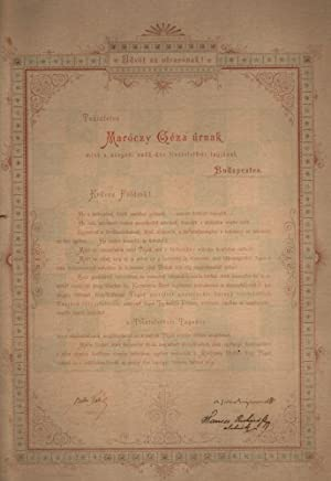 Honorary Degree for Géza Maróczy by the
