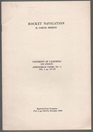 Space Rocket Trajectories. University of California Los Angeles. Astronomical Papers, No. 10. [Re...