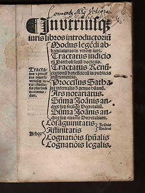In utriusq(ue) iuris libros introductorium. Tractatus &: Saxoferratus, Bartolus de