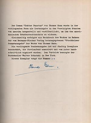 Doktor Faustus. Das Leben des deutschen Tonsetzers: Mann, Thomas