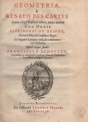 Geometria, à Renato Des Cartes Anno 1637: Descartes, René; Beaune,