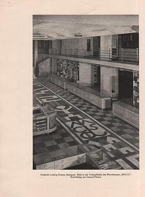 Die Neuen Arbeiten von Architekt Ludwig Kozma - Budapest. Von --. (Sonderdruck aus dem Aprilheft ...