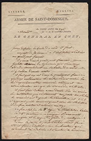 Genereal Leclerc's Handwritten Letter, on October 10, 1802