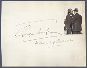 Signature of Ganga Singh With Photographic Portrait