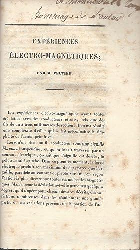 Nouvelles Experiences sur la Caloricite des Courans Electriques: Peltier, Jean Charles Athanase