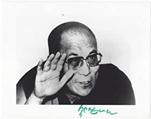Signed portrait of the Dalai Lama