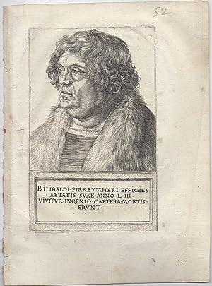 Portrait of Willibald Pirckheimer: Dürer, Albrecht