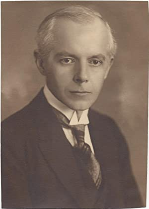 Photographic Portrait of Béla Bartók with his Signature