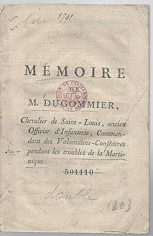 Memoire De M Dugommier Chevalier Saint Louis