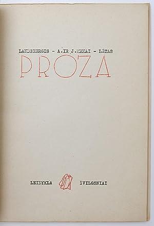 Proza: Landsbergis, Algirdas; Mekas,