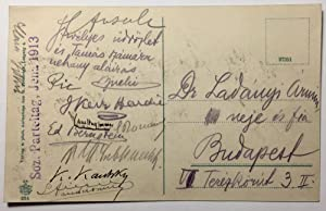 Postcard Signed By Early Prominent Socialists at the Sozialdemokratische Parteitag Jena, 1913