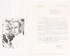 Signed, Typewritten Letter by Albert Hofmann; Photocopy of the First Report on the Use of LSD; an...
