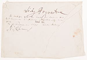 Autograph Note on an Envelope. With Wladyslaw Mickiewicz Autograph Certification