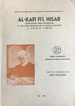 Al-Kafi Fi Al-Hisab. (Genugendes Uber Arithmekik).: Al-Karji, Abi Bakr