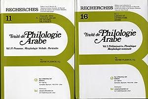 Traité de Philologie Arabe. Vol. I: Préliminaires,: Fleisch, Henri.