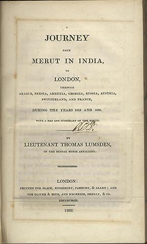 A Journey From Merut To London, Through: Lumsden, (Lieut. Thomas).