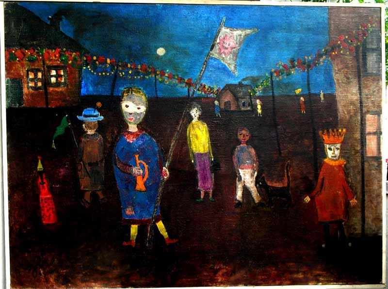Künstler datiert Nicht-Künstler Schwarzer Typ, der spanisches Mädchen