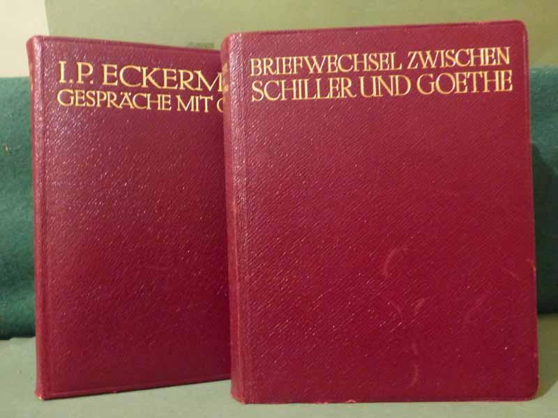 1. Briefwechsel zwischen Schiller und Goethe. -: Goethe.-