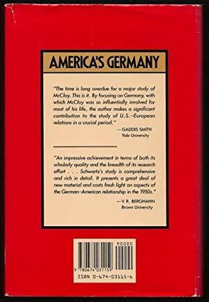 America's Germany: John J. McCloy and the Federal Republic of Germany: Gray cloth covered ...