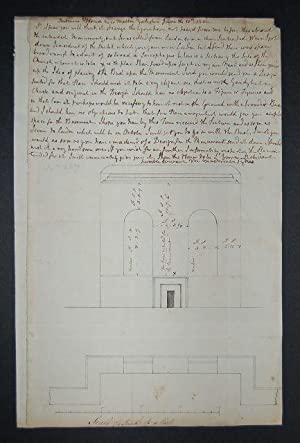 Hand-written letter and plan signed M. Masterman, Sledmore House, Yorkshire: June 10th, 1802.: ...