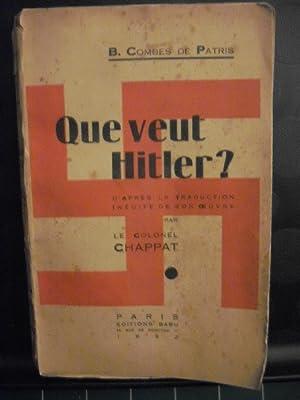 Que veut Hitler ? d'après la traduction: Combes De Patris