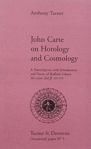 John Carte on Horology and Cosmology: Turner (Anthony)