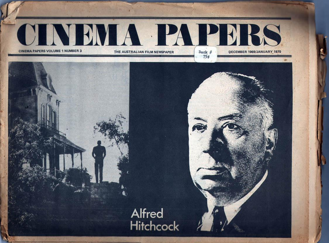 Cinema Papers Vol 1 No 3 Beilby, Peter, et al, Eds.