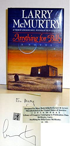 Anything for Billy: A Novel: McMurtry, Larry