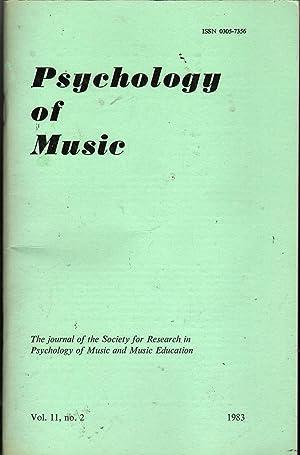 Psychology of Music Vol 11 No 2: Shuter-Dyson, Rosamund